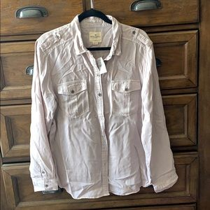 NWT American Eagle Utility shirt XL in light pink